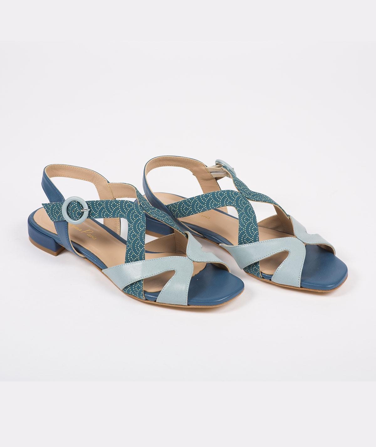 Sandales plates Sarah de Sapporo