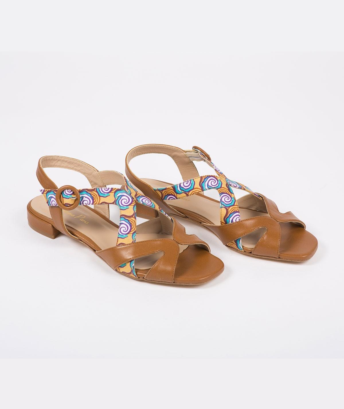 Sandales plates Sarah de Mbour