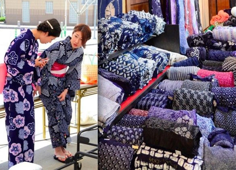 Le tissu Shibori